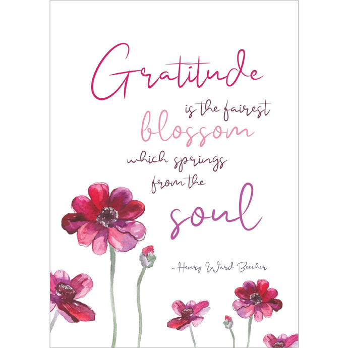 Gratitude Blossoms Thank You Greeting Card