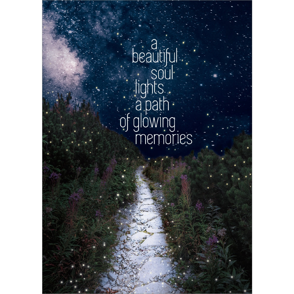 Glowing Path Sympathy Greeting Card