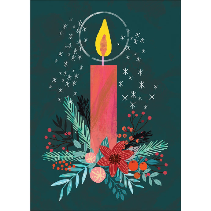 Holiday Candle Holiday Greeting Card