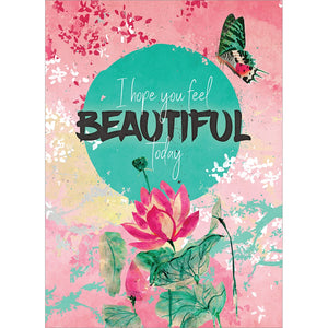 Inside And Out Beauty Thinking of You Greeting Card