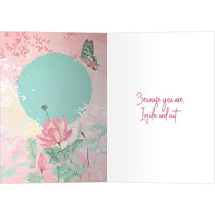 Load image into Gallery viewer, Inside And Out Beauty Thinking of You Greeting Card