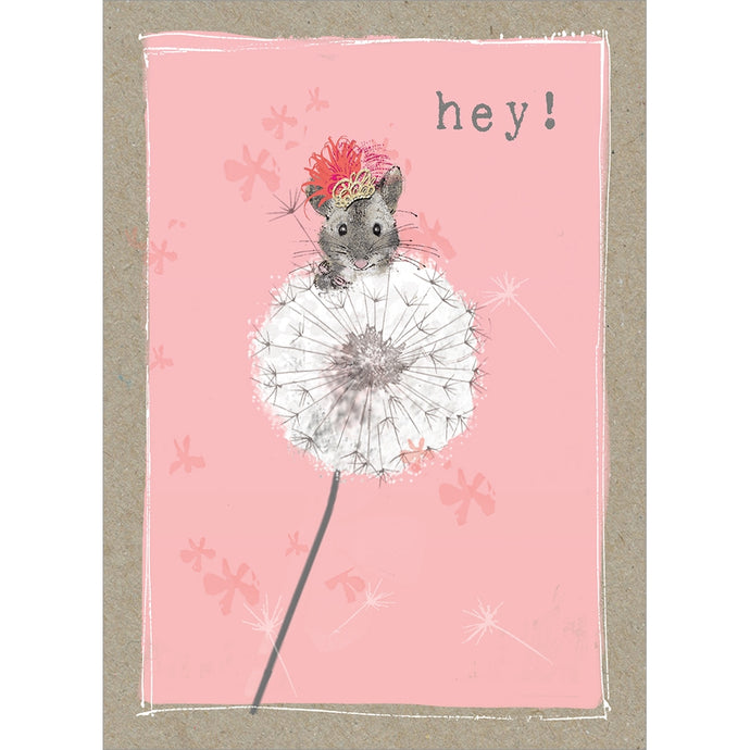 Hey Mouse Thinking of You Greeting Card