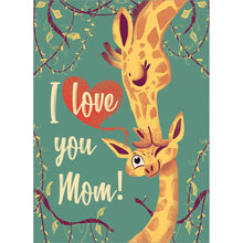 Load image into Gallery viewer, Giraffe Mom Mother's Day Greeting Card