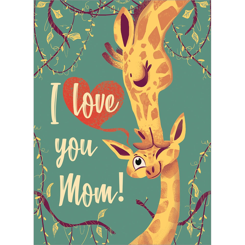 Giraffe Mom Mother's Day Greeting Card