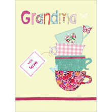 Load image into Gallery viewer, Grandma Tea Cups Mother's Day Greeting Card