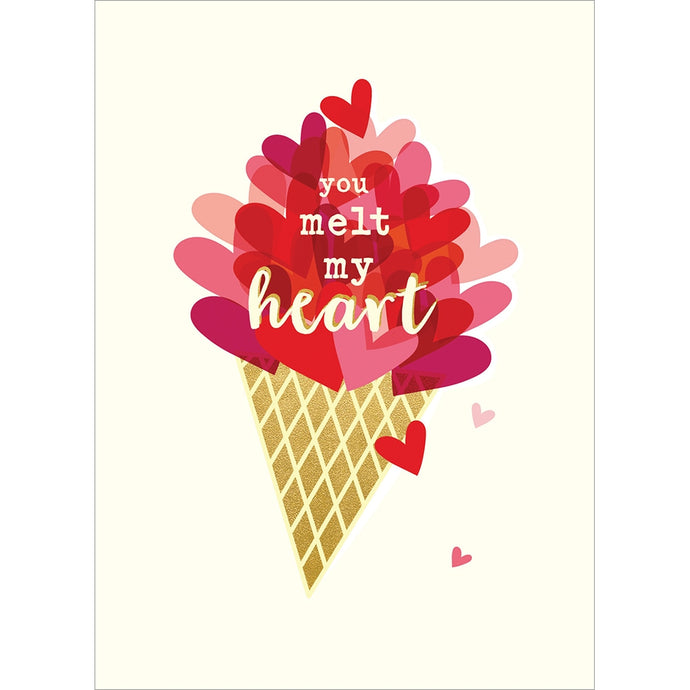 Melt My Heart Valentine Valentine's Day Greeting Card
