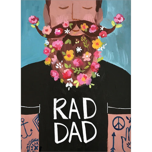 Rad Dad Father's Day Greeting Card