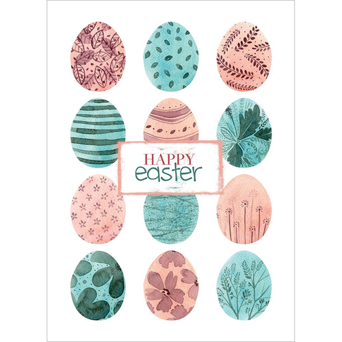 Happy Easter Eggs Easter Greeting Card