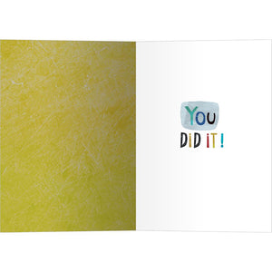 Woohoo Congrats Graduation Greeting Card