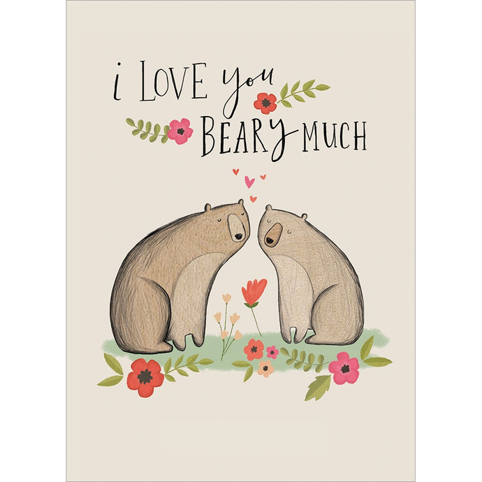 Beary Much Valentine's Day Greeting Card