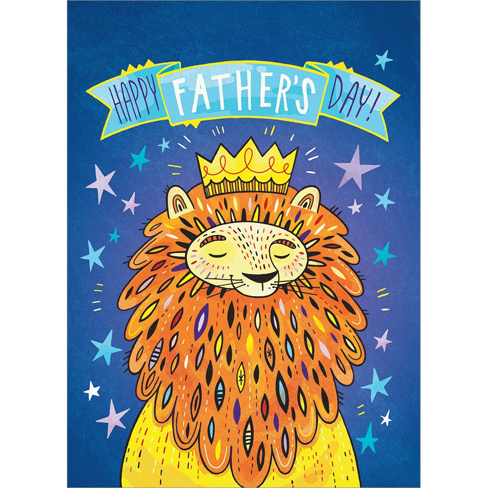 Pride Lion Father's Day Greeting Card