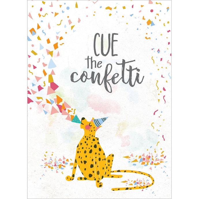 Cue The Confetti Graduation Greeting Card