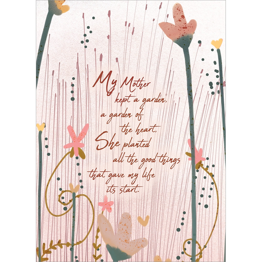 My Mothers Garden Mother's Day Greeting Card