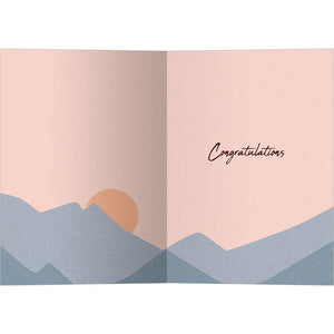 Present Moment Sunset Graduation Greeting Card