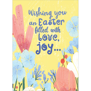 Love Joy Easter Easter Greeting Card