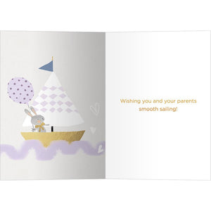 Ahoy Little One New Baby Greeting Card