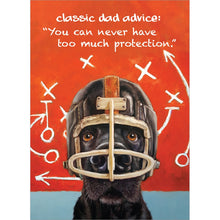Load image into Gallery viewer, Dog Helmet Father's Day Greeting Card