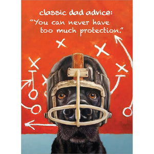 Dog Helmet Father's Day Greeting Card