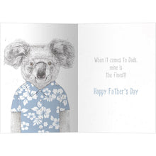 Load image into Gallery viewer, Koalaty Dad Father's Day Greeting Card