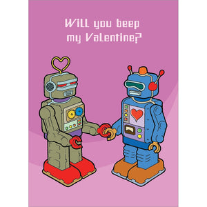 Robot Valentines Valentine's Day Greeting Card