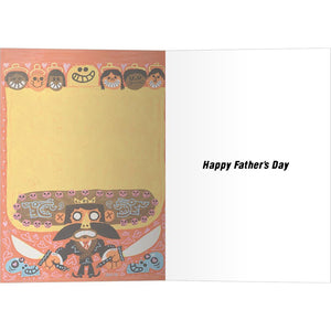 Macho Papa Father's Day Greeting Card