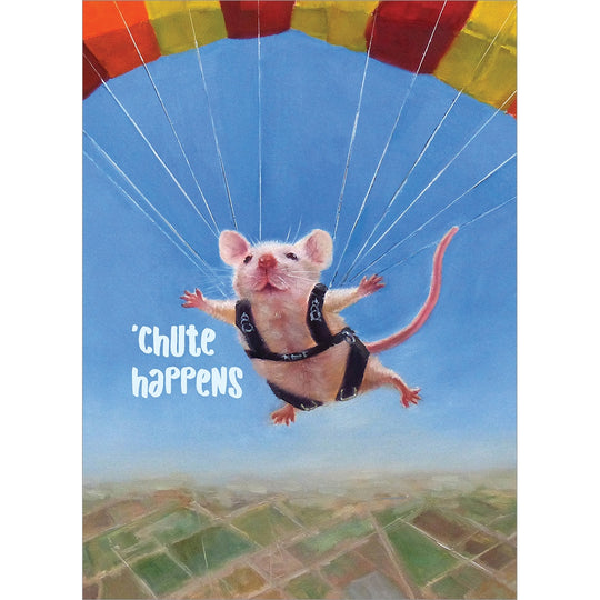 Chute Happens Graduation Greeting Card