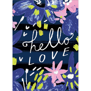 Hello Love Valentine Valentine's Day Greeting Card