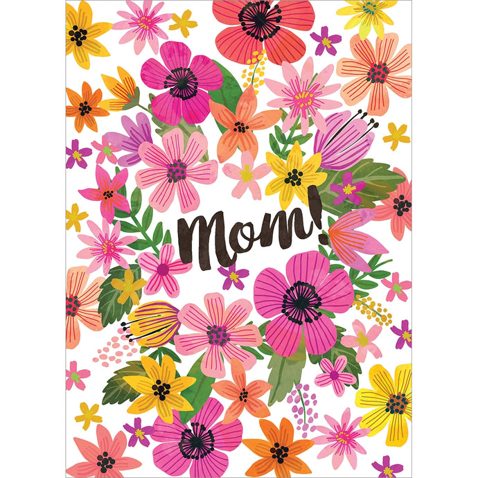 Bright Florals Mom Mother's Day Greeting Card