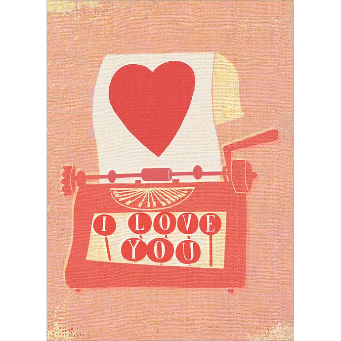 Love Typewriter  Valentine's Day Greeting Card