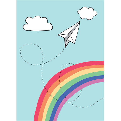 Paper Airplane Graduation Greeting Card
