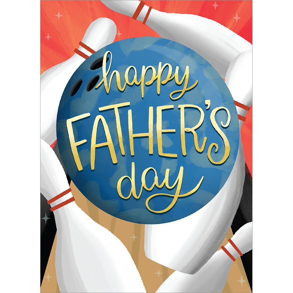 Bowling Father's Day Greeting Card