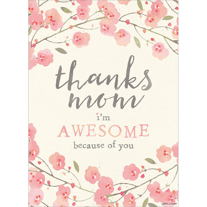 Awesome Mom Floral Mother's Day Greeting Card
