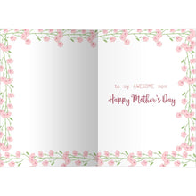 Load image into Gallery viewer, Awesome Mom Floral Mother's Day Greeting Card