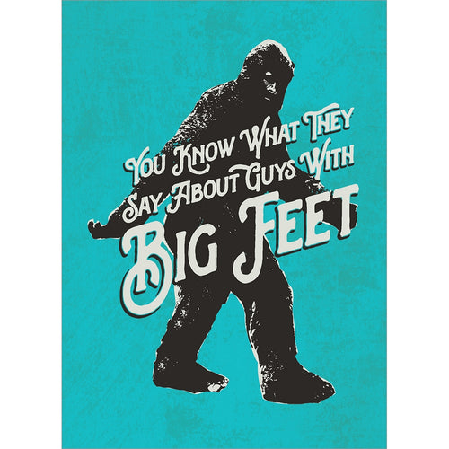 Big Shoes Father's Day Greeting Card