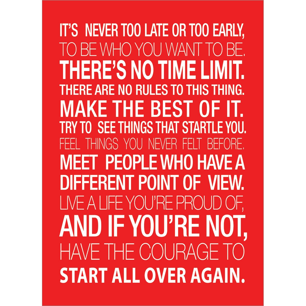 No Time Limit All Occasion Greeting Card