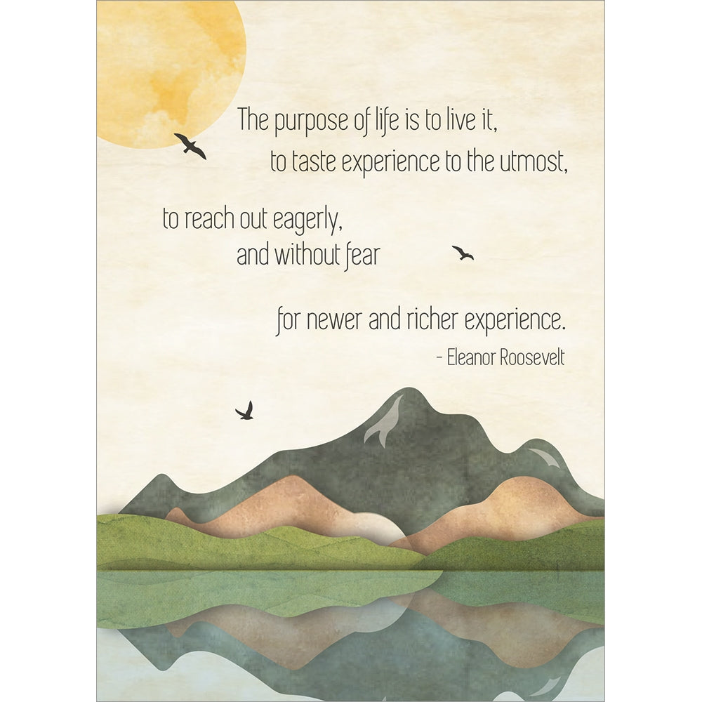 Purpose Of Life Graduation Greeting Card