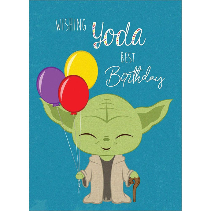 Yoda Best Birthday Birthday Greeting Card