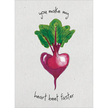 Load image into Gallery viewer, Heart Beet Valentine's Day Greeting Card