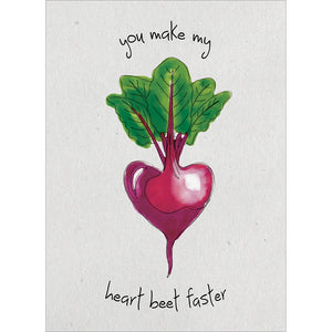 Heart Beet Valentine's Day Greeting Card