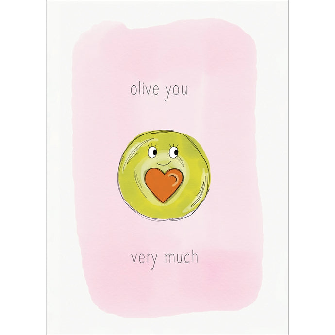 Olive You Valentine's Day Greeting Card