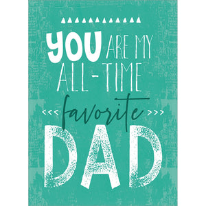 My Favorite Dad Father's Day Greeting Card