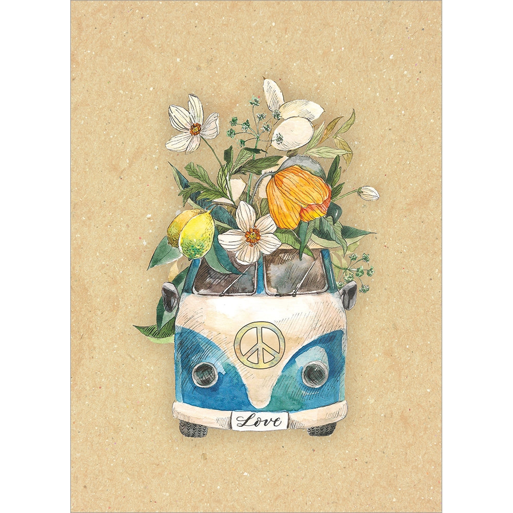 Flower Van All Occasion Greeting Card