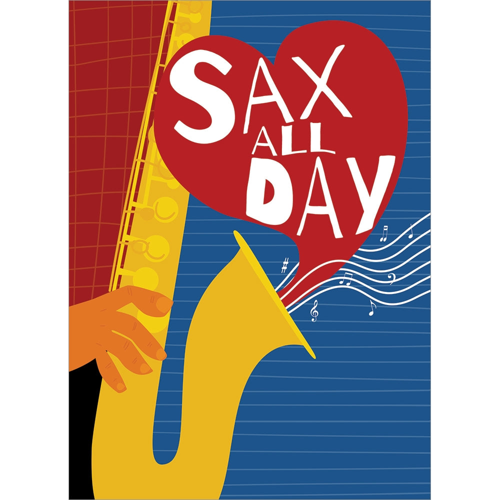 Sax Day Valentine's Day Greeting Card