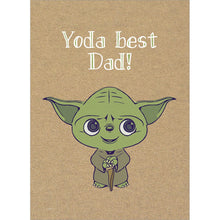 Load image into Gallery viewer, Yoda Best Dad Father's Day Greeting Card