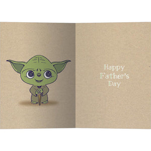 Yoda Best Dad Father's Day Greeting Card