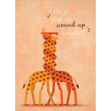 Load image into Gallery viewer, Wound Up Giraffes Anniversary Greeting Card