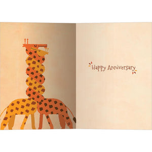 Wound Up Giraffes Anniversary Greeting Card