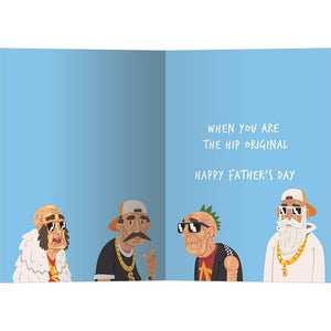 Hip Dad Father's Day Greeting Card