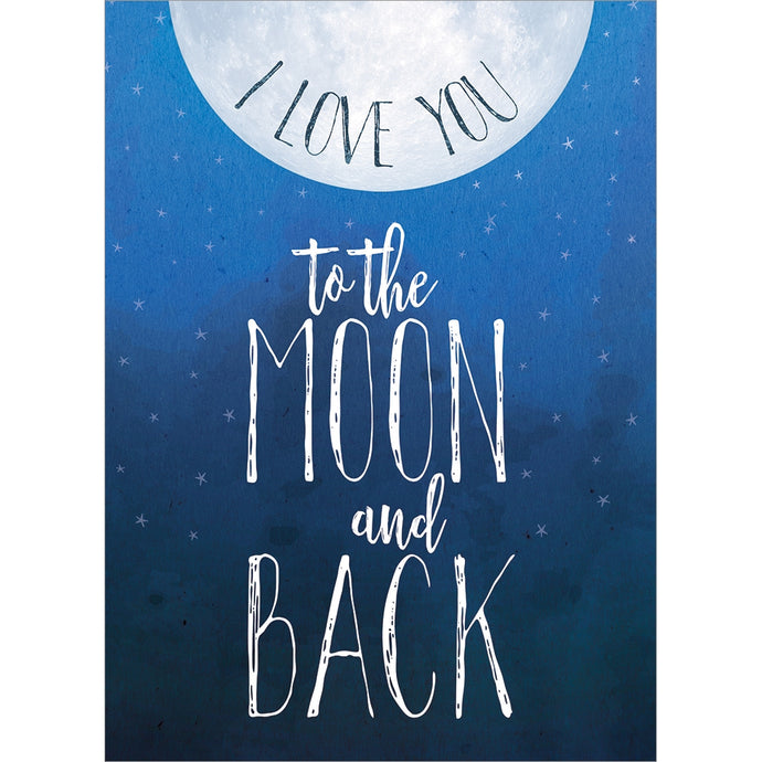 Moon And Back Anniversary Anniversary Greeting Card