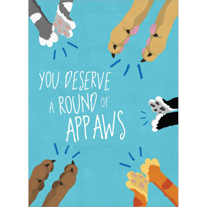 Round Of Appaws Congratulations Greeting Card